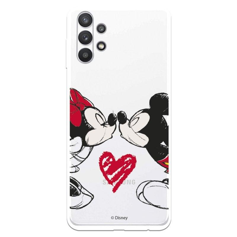Funda Oficial de Disney Mickey y Minnie Beso Clásicos Disney para Samsung Galaxy A32 5G