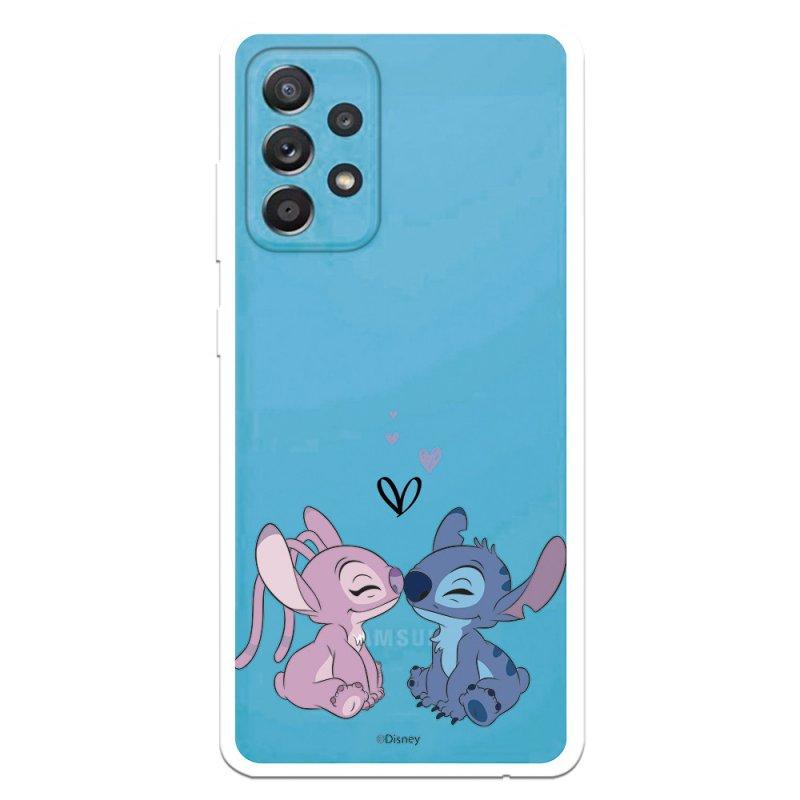 Funda Oficial De Disney Angel & Stitch Beso Lilo & Stitch Para Samsung Galaxy A52 5G