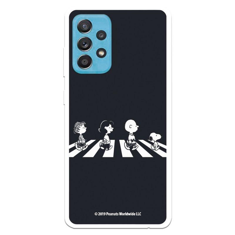 Funda Oficial de Peanuts Personajes Beatles Snoopy para Samsung Galaxy A52 5G