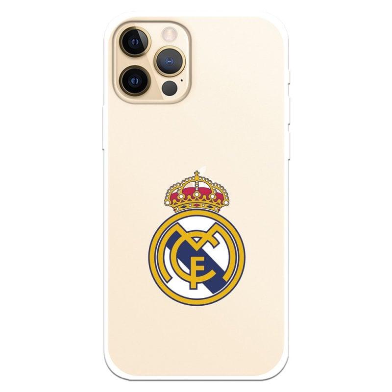 Funda Oficial Del Real Madrid Escudo Transparente Para IPhone 12