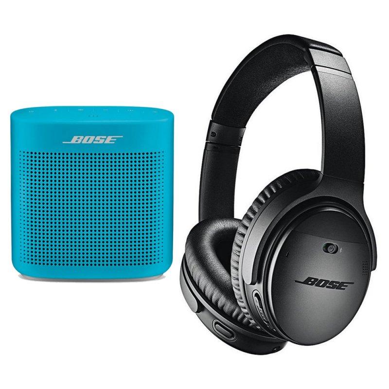 Bose QuietComfort 35 II Auriculares Bluetooth + Bose SoundLink Color II Altavoz Azul