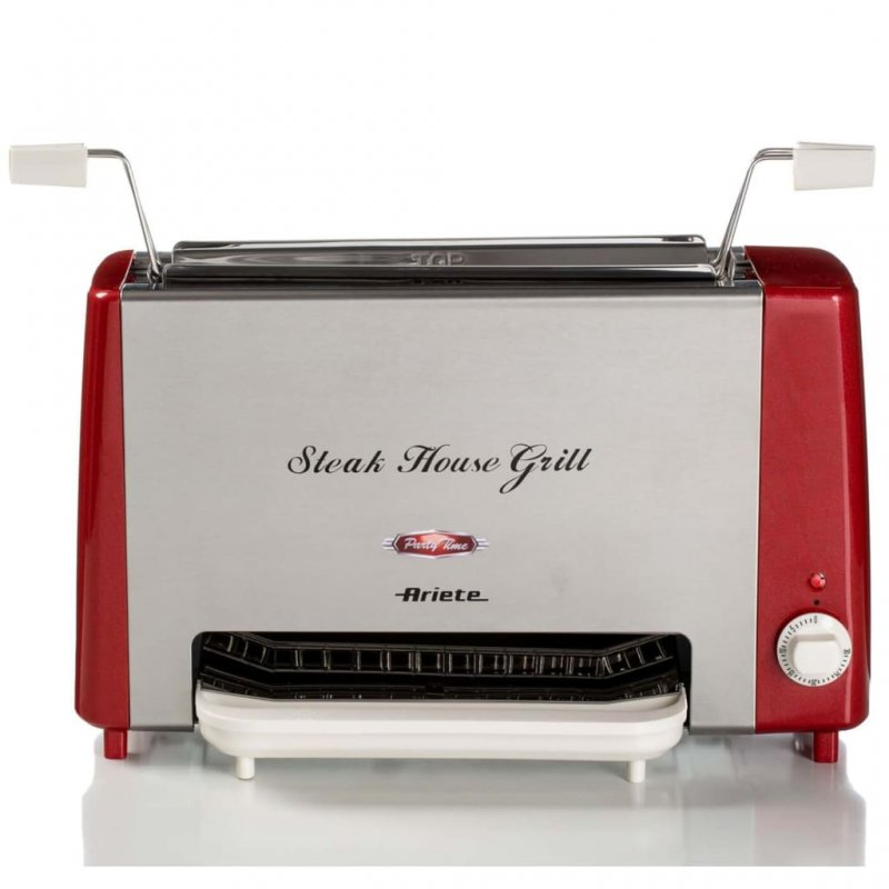 Ariete Grill Steakhouse Party Time 1300W Rojo Y Plateado