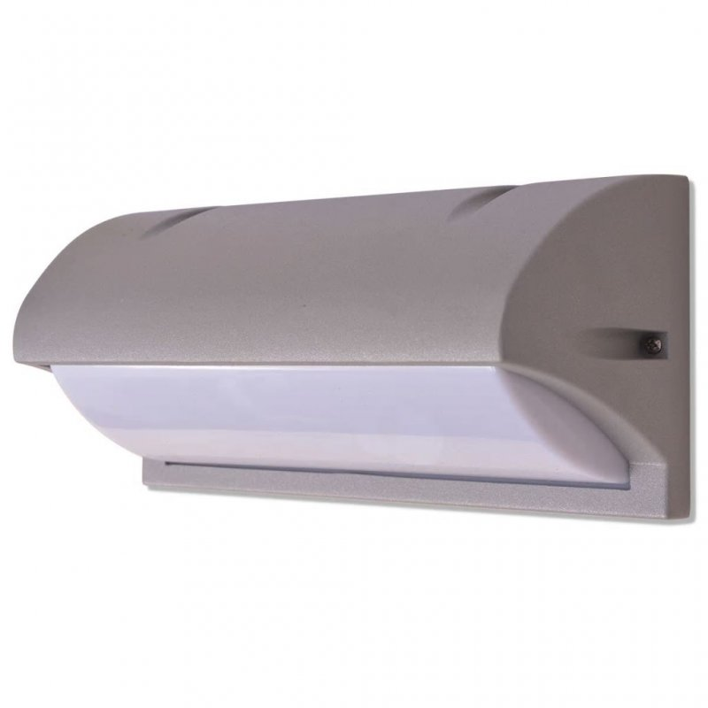 VidaXL Lámpara De Pared Para Exterior E27 Gris Aluminio