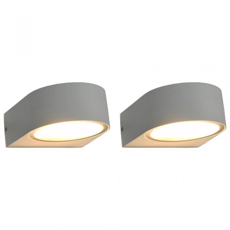 VidaXL Pack 2 Lámparas De Pared Redondas Para Exterior 11W Blanca