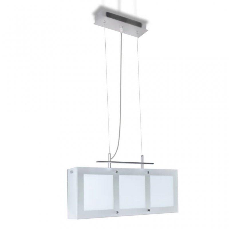VidaXL Lámpara Colgante Para Comedor 3xE14 Blanca