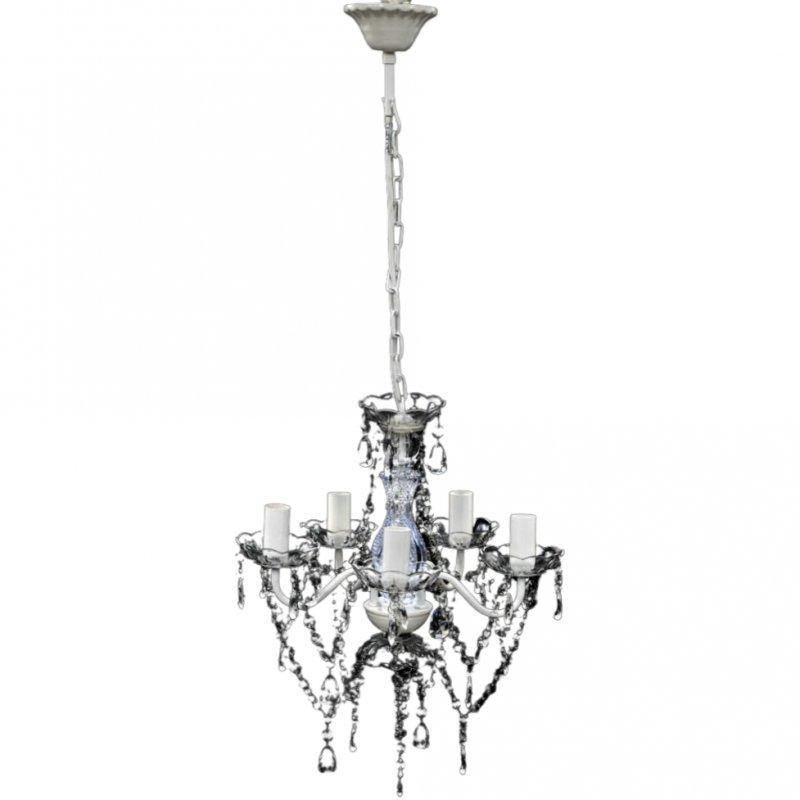 VidaXL Lámpara De Araña 5xE14 Transparente