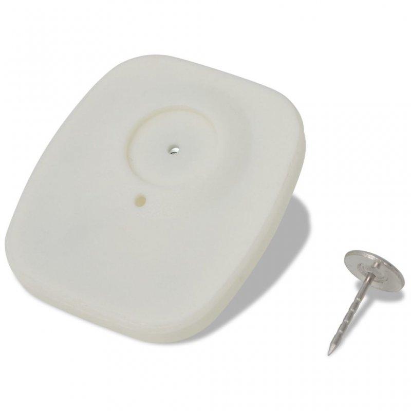 VidaXL Etiquetas Magnético-Acústicas 1000 Piezas Blanco