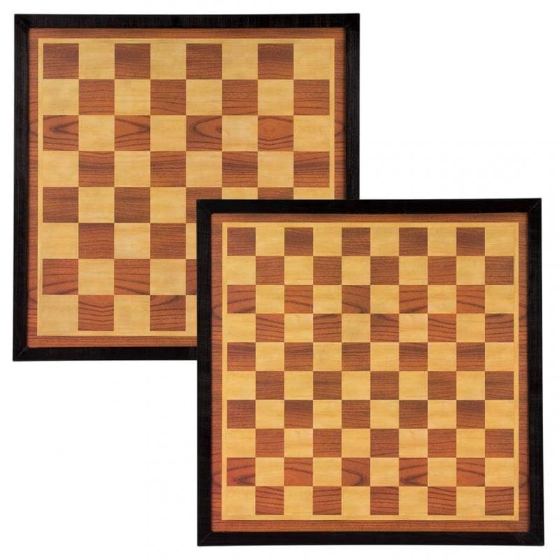 Abbey Game Tablero de Ajedrez/Damas Madera
