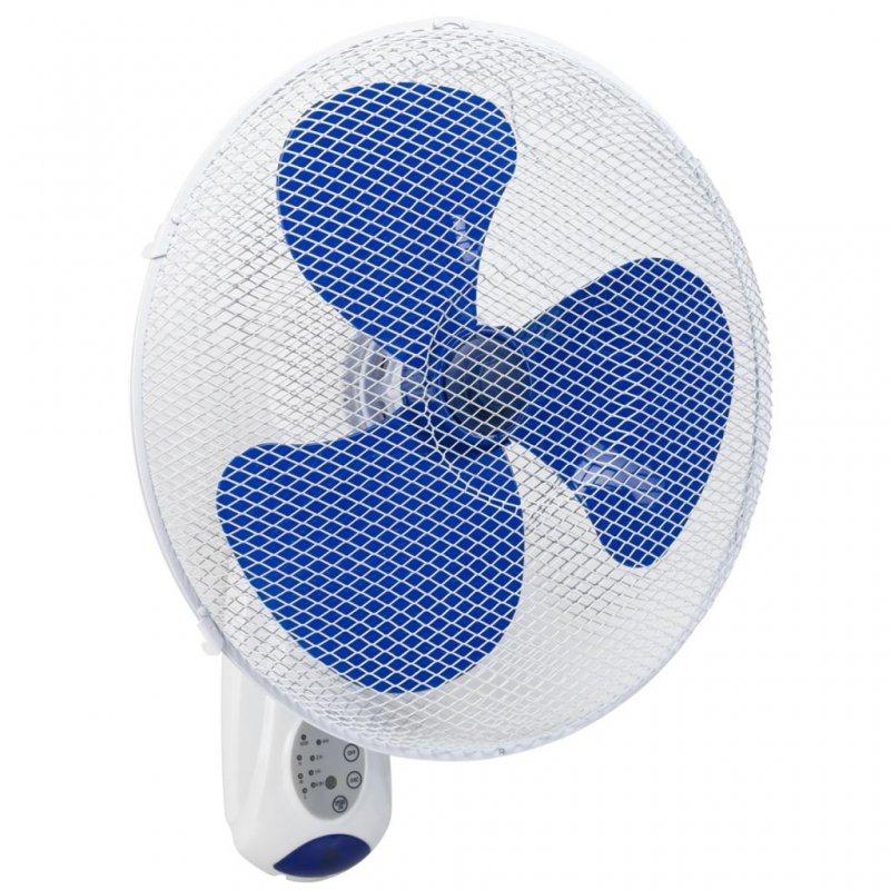 Bestron Ventilador De Pared Con Mando A Distancia 45W Blanco/Azul