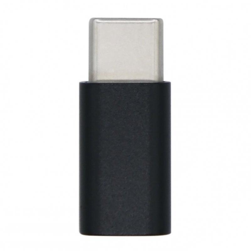 Aisens Adaptador USB-C A MicroUSB Macho/Hembra Negro