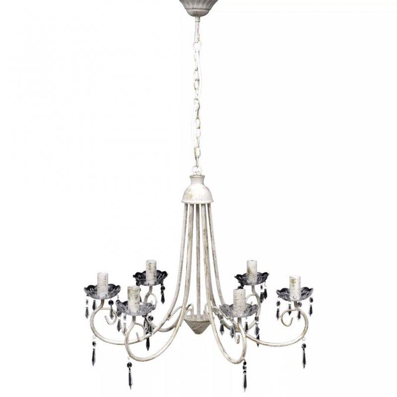 VidaXL Lámpara Colgante De Araña 6xE14 Blanca