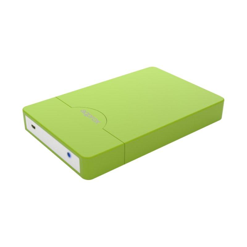 """Approx APPHDD10GP Carcasa Disco Duro 2.5"""" USB 3.0 SATA Verde Pistacho"""