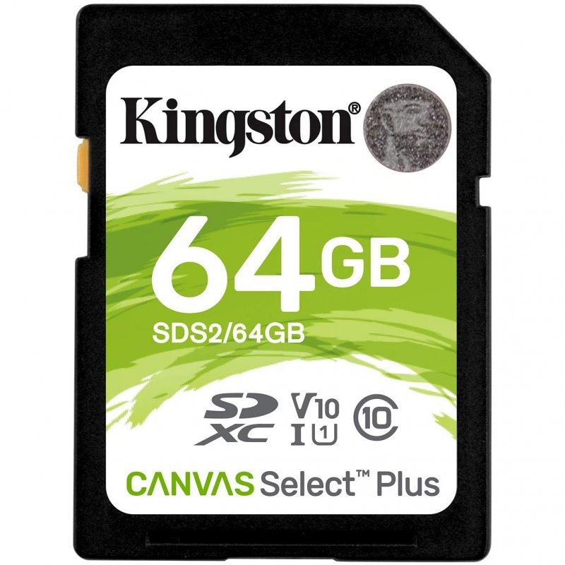 Kingston Canvas Select Plus SDXC 64GB UHS-I Clase 10