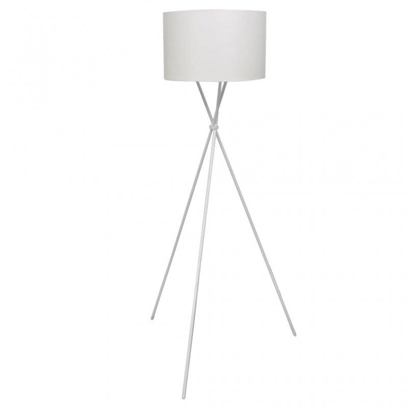 VidaXL Lámpara De Pie E27 Blanca