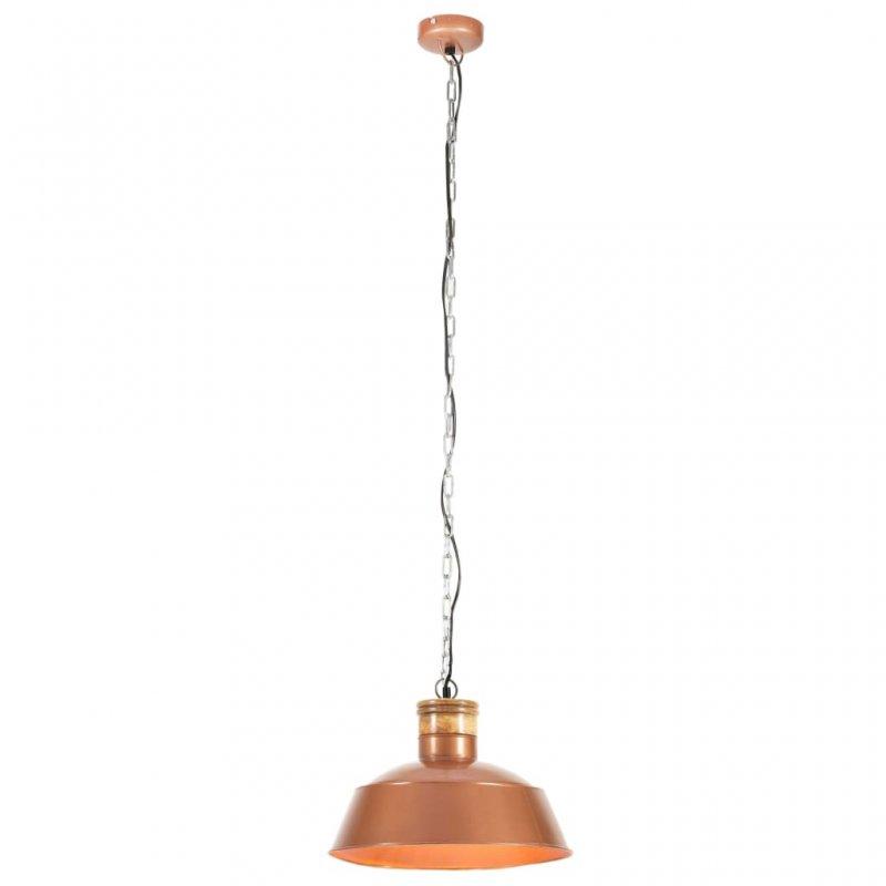 VidaXL Lámpara Colgante Industrial E27 42cm Cobre
