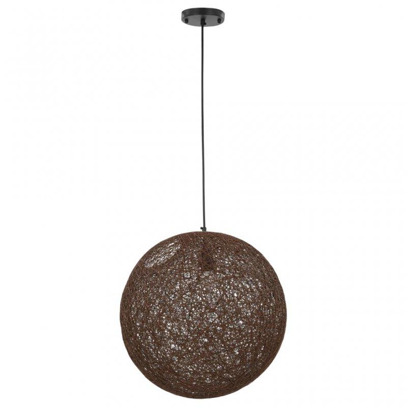 VidaXL Lámpara Colgante Esférica E27 45cm Marrón
