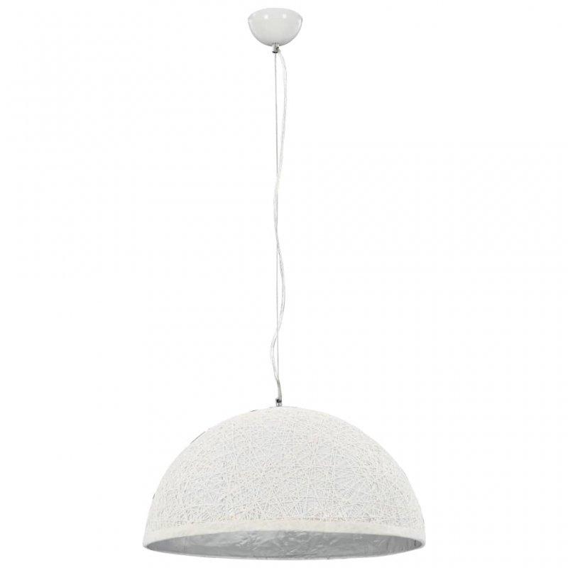 VidaXL Lámpara Colgante E27 50cm Blanco/Plateado