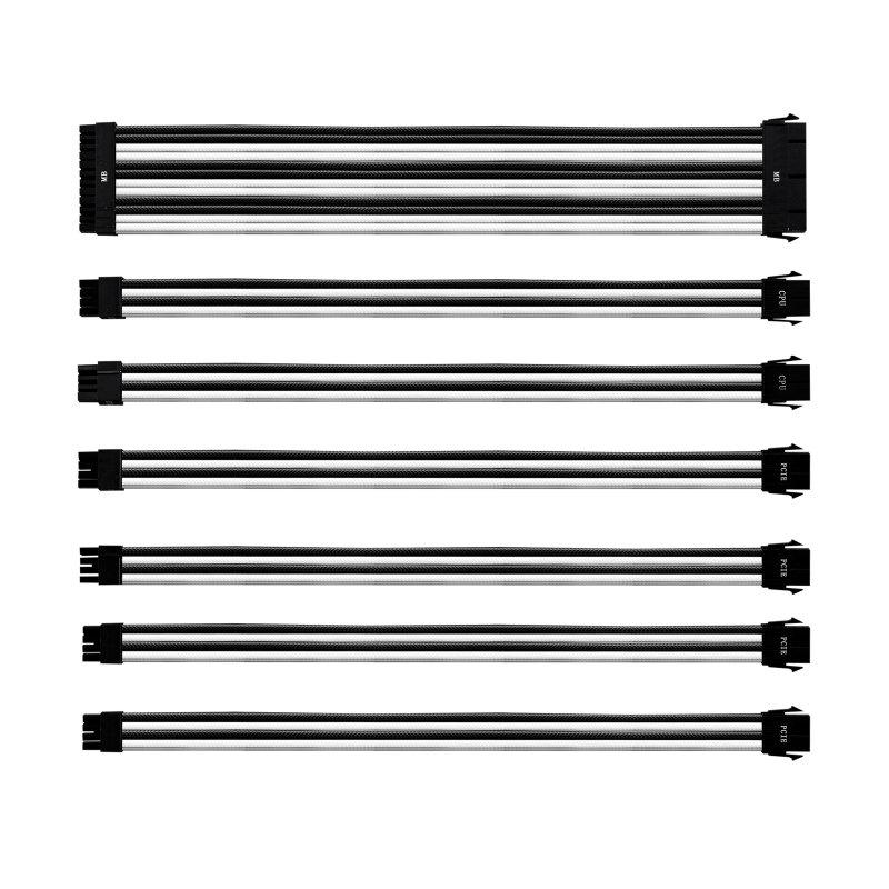 Cooler Master Kit 7 Cables De Extension Blanco/Negro
