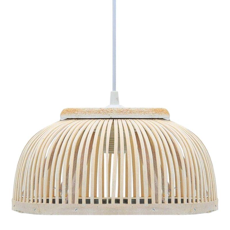 VidaXL Lámpara Colgante Semicírculo 40W E27 Bambú