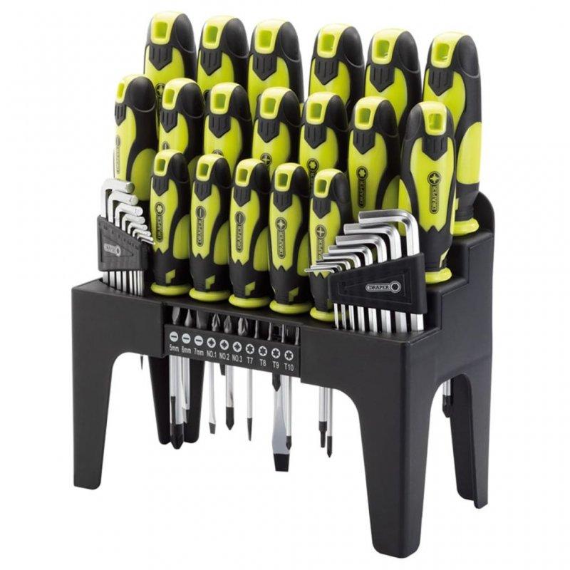 Draper Tools Set Destornilladores + Llaves Hex + Puntas 44 Piezas Verde