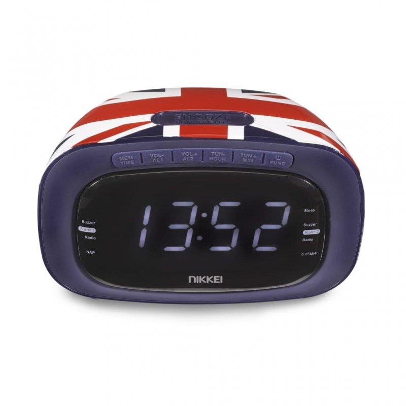 Nikkei Radio Reloj Despertador NR200UK Diseño Bandera Reino Unido