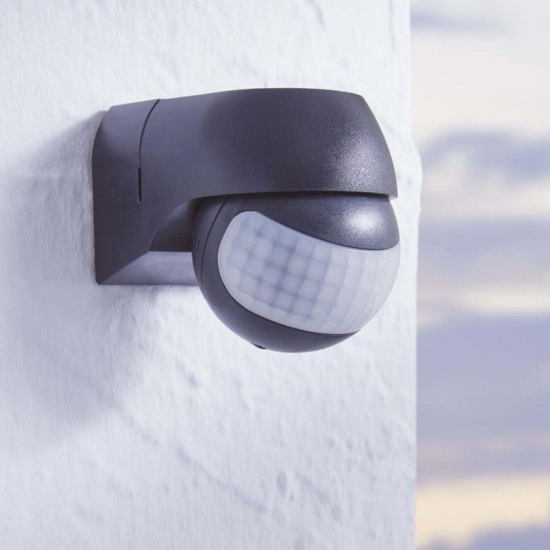 EGLO Detect Me 1 Sensor De Movimiento Para Jardín 180° Negro