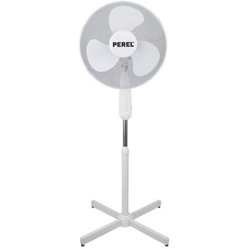 Perel Ventilador De Pie 50W Blanco