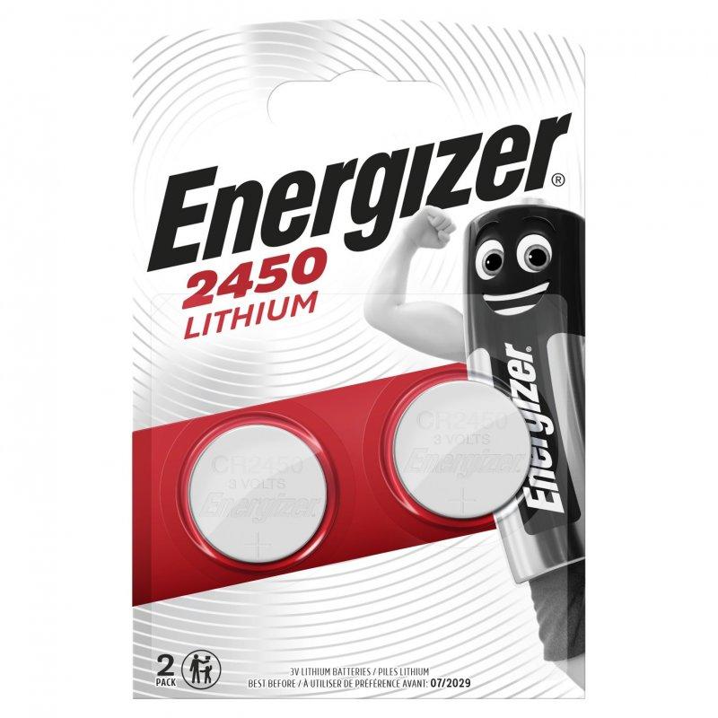 Energizer Pack 2 Pilas Litio CR2450 3V
