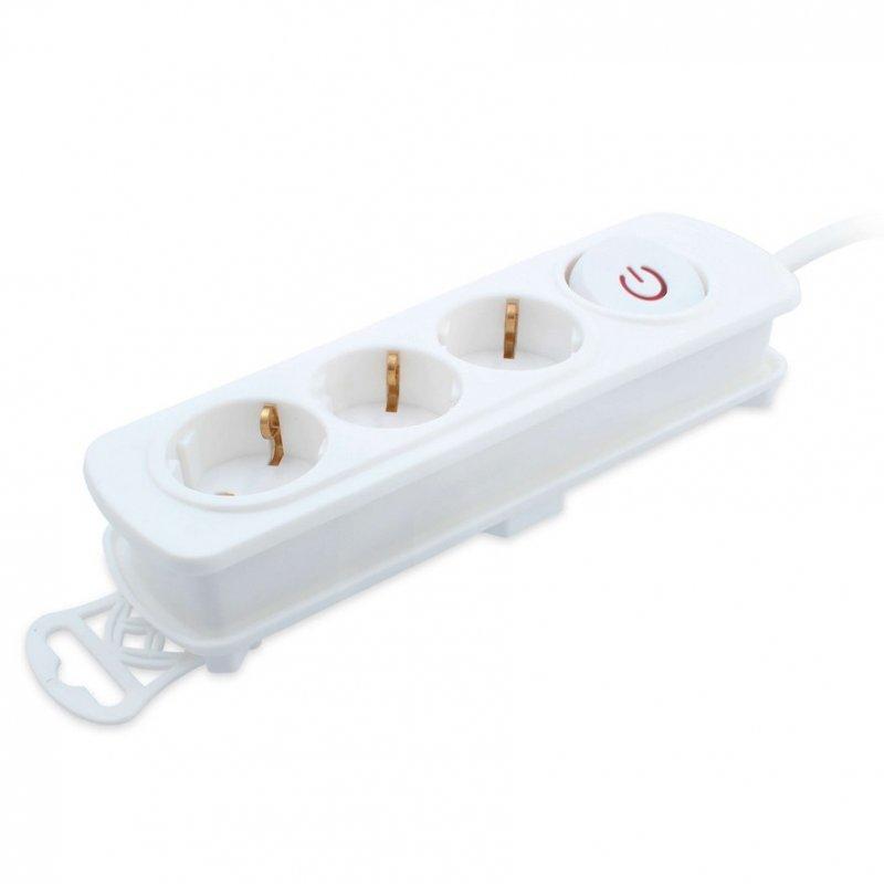 TM Electron Regleta 3 Tomas Con Protección Blanco