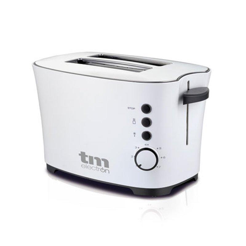 TM Electron Tostadora 2 Rebanadas 850W Blanco