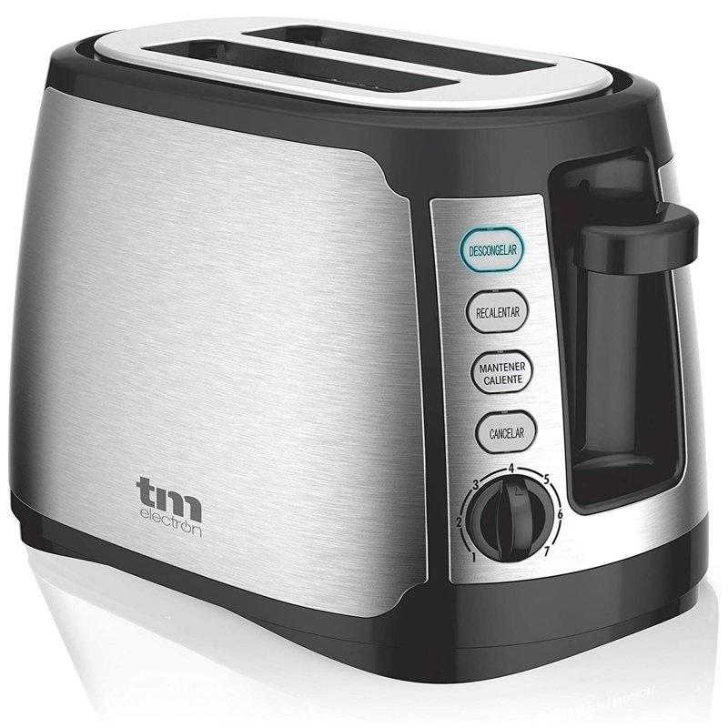 TM Electron Tostador 2 Rebanadas XXL 800W Inox