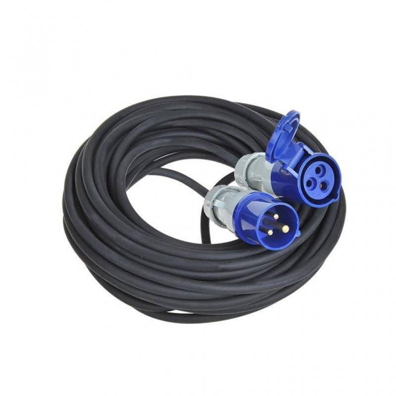 ProPlus Cable Extensión De Alimentación Schuko 20m Negro/Azul