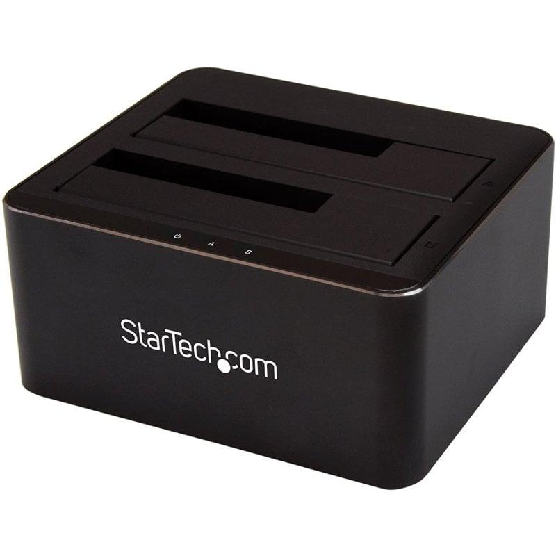 """StarTech SDOCK2U33V Estación De Conexión Disco Duros SATA 2.5""""/3.5"""" 2 Bahías Negro"""