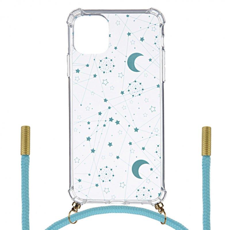 Funda Silicona Colgante Constelación Azul Para IPhone 11