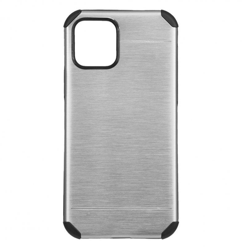 Funda Metalizada Plata Para IPhone 12 Mini