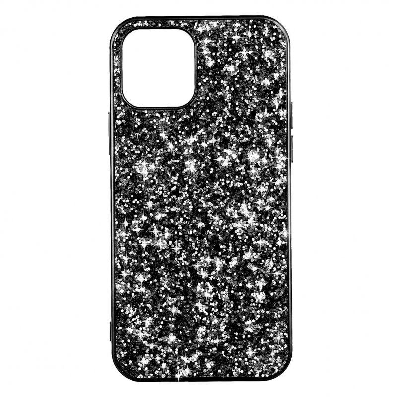 Funda Brillantina Negra Para IPhone 12 Pro Max