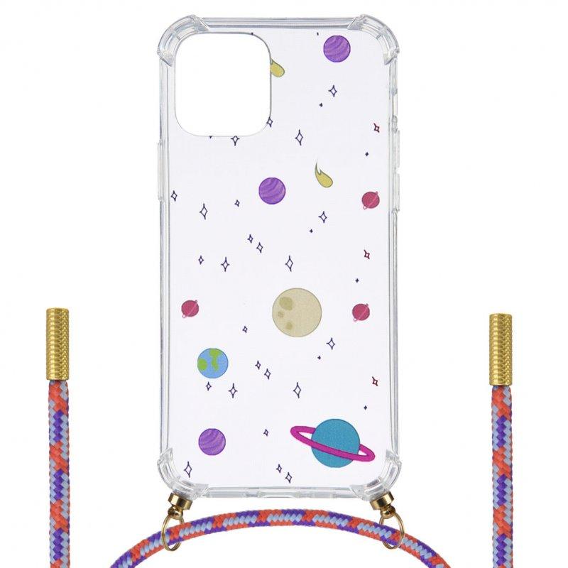 Funda Silicona Colgante Planetas Para IPhone 12 Mini