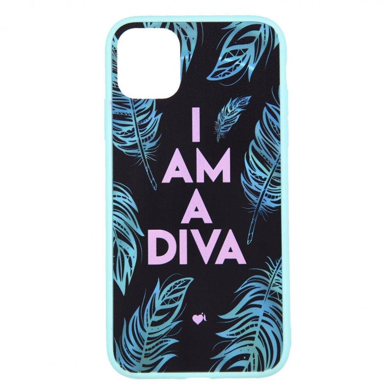 Funda Oficial De La Vecina Rubia  I'm A Diva Borde Azul Para IPhone 11