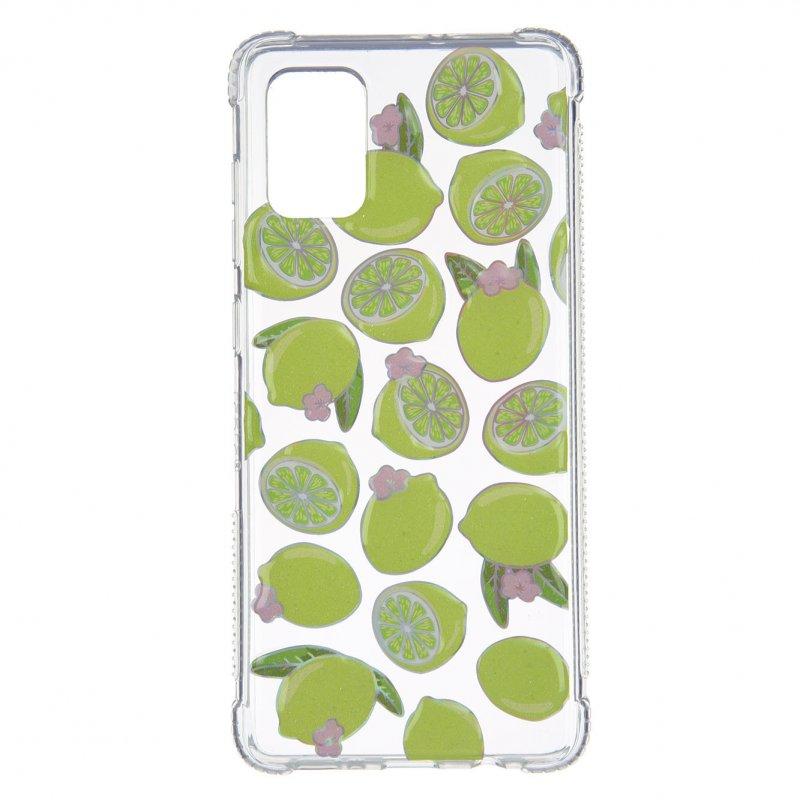 Funda Iridiscente Limones 3D Para Samsung Galaxy A51