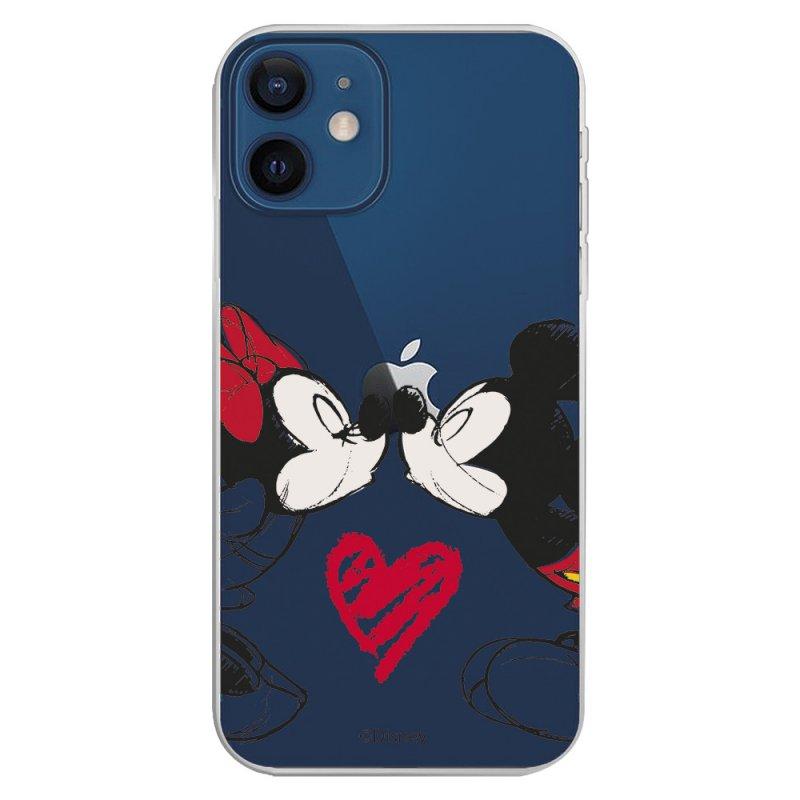Funda Oficial de Disney Mickey y Minnie Beso Clásicos Disney para iPhone 12 Mini
