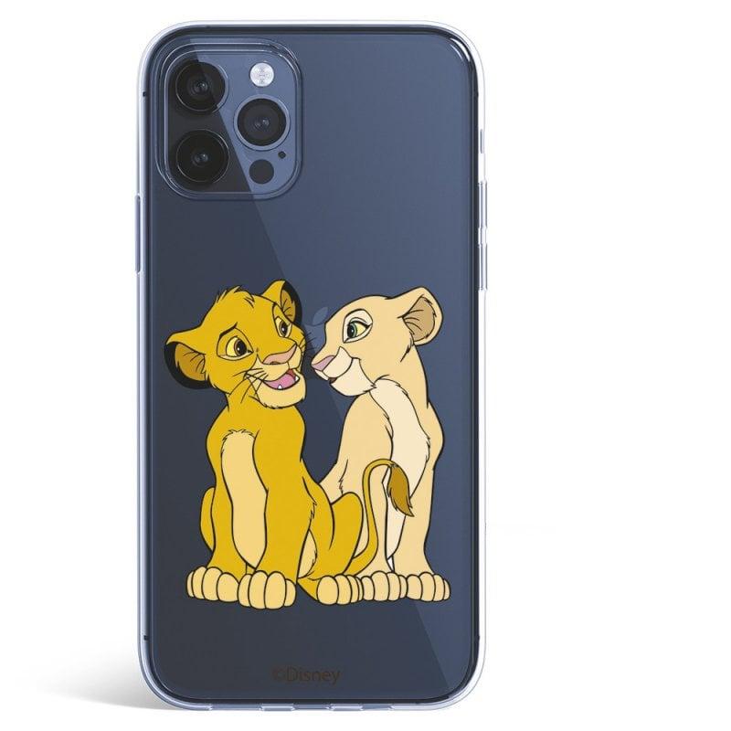 Funda Oficial El Rey León de Disney Simba y Nala Silueta para iPhone 12 Pro Max