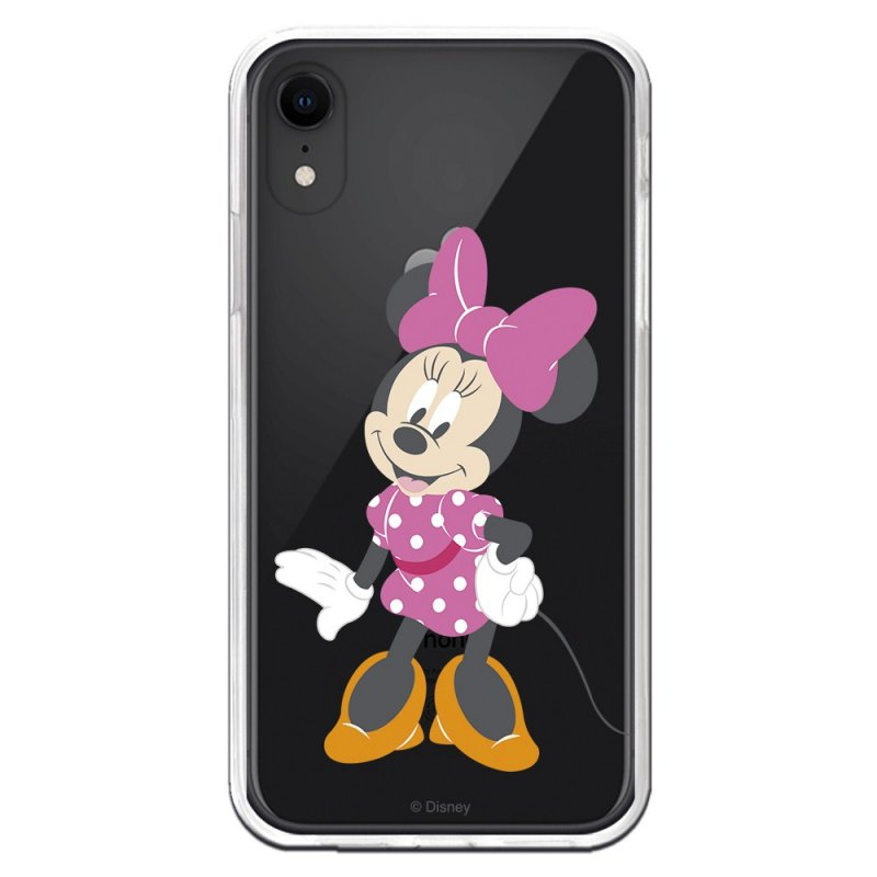 Funda Oficial Disney Minnie Lazo Rosa Transparente iPhone XR