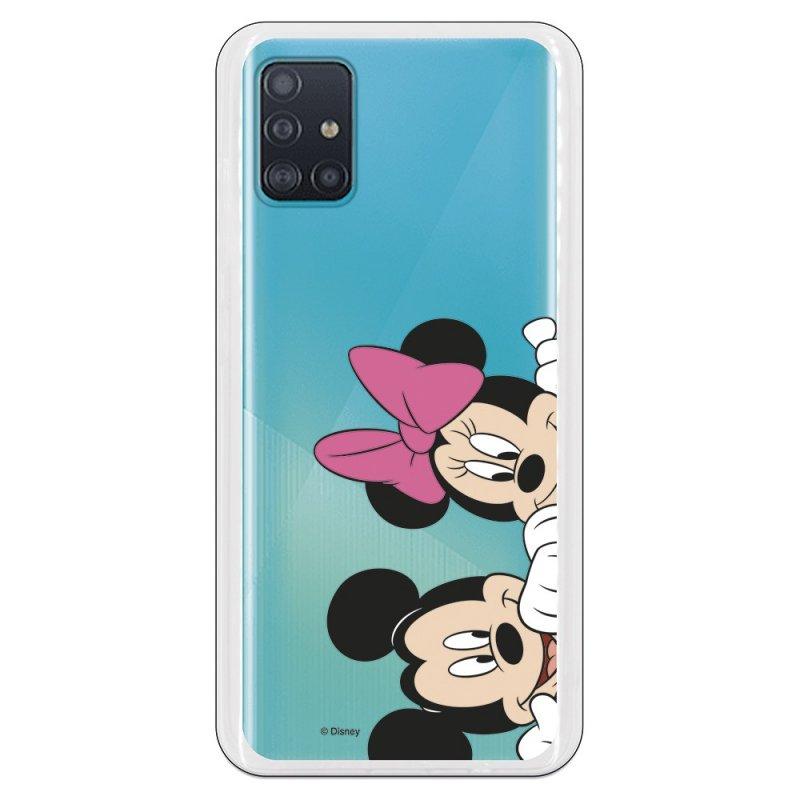 Funda Oficial Clásicos de Disney Mickey y Minnie Asomados para Samsung Galaxy A51