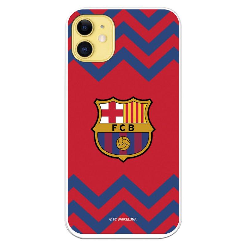 Funda Licencia Oficial Del FC Barcelona Escudo Medio Zigzag Rojo Y Azul Para IPhone 11