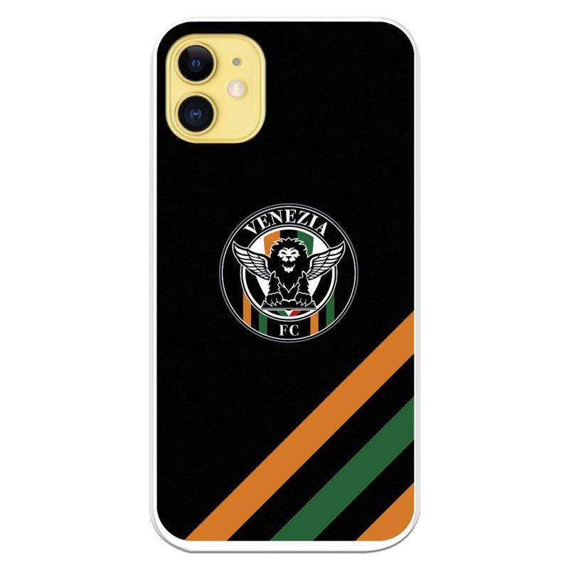Funda Licencia Oficial Venezia Football Club Escudo Fondo Negro Para IPhone 11