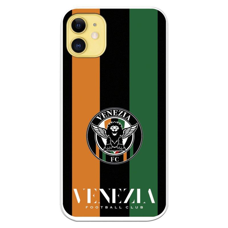 Funda Licencia Oficial Venezia Football Club Escudo Fondo Rayas Para IPhone 11