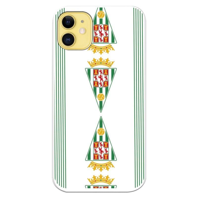 Funda Licencia Oficial Córdoba CF Patrón Escudos Verticales Para IPhone 11