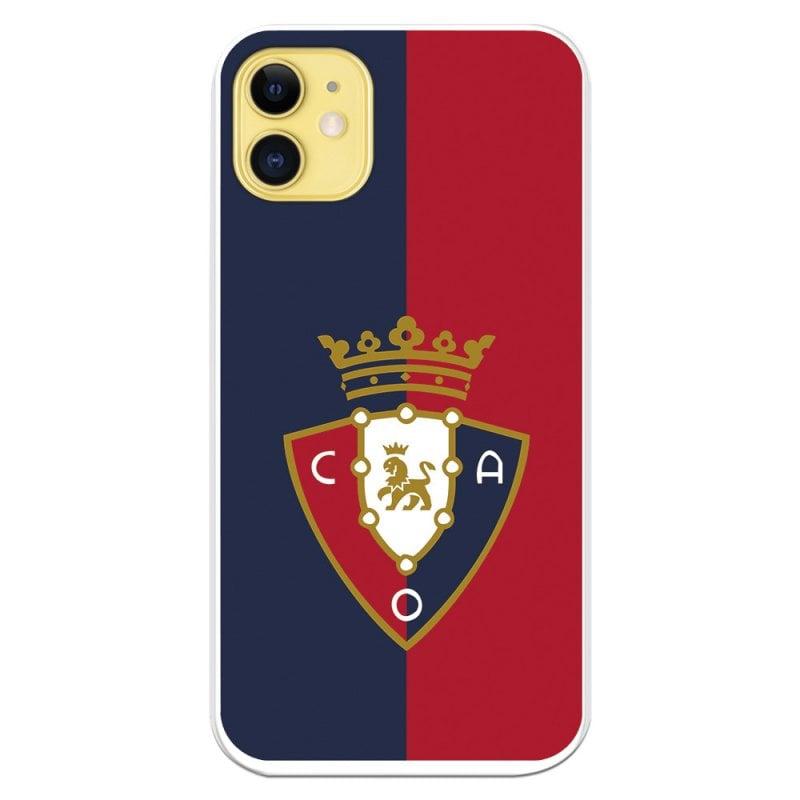 Funda Licencia Oficial CA Osasuna Escudo Fondo Bicolor Para IPhone 11