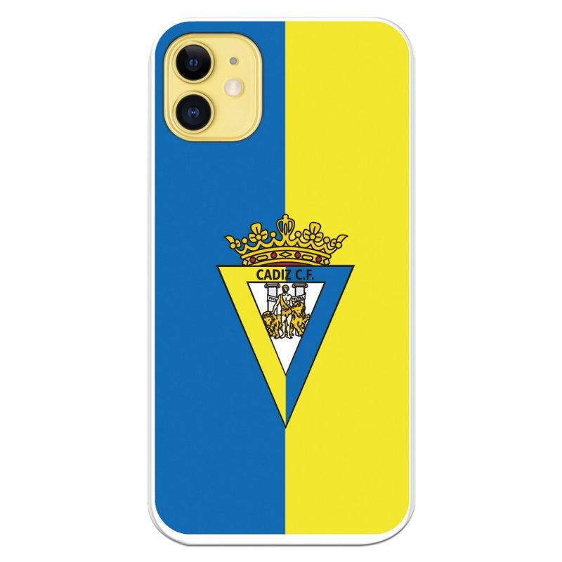 Funda Licencia Oficial Cádiz CF Escudo Fondo Bicolor Para IPhone 11