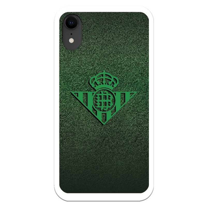 Funda Licencia Oficial Real Betis Balompié Escudo Verde Fondo Trama Para IPhone XR